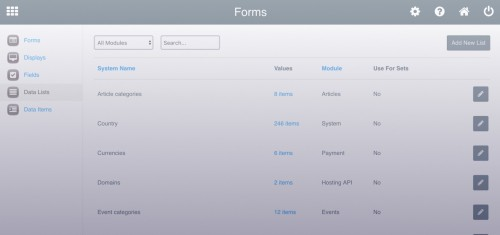 How to change categories in content apps?